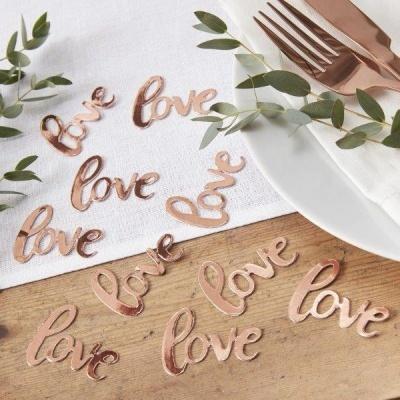 "Confettis ""Love"" Rose Gold"
