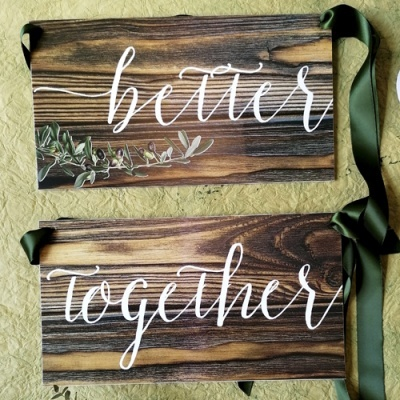 """2 Placas """"better together"""" CR005PC"""