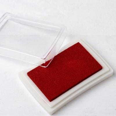Almofada de tinta vermelha para carimbos