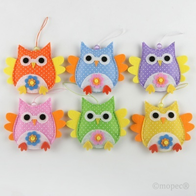 6 Corujas para decoração