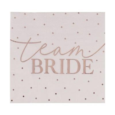 "16 Guardanapos Foil ""Team Bride"""