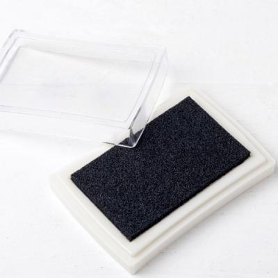 Almofada de tinta preta para carimbos