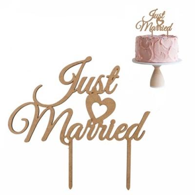 Just Married em MDF