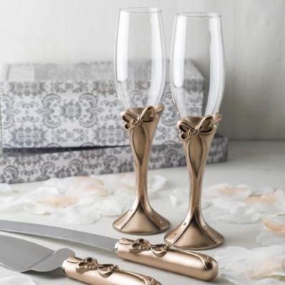 Flutes em rose gold