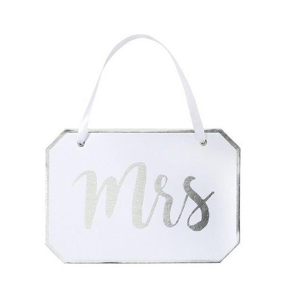 "Placa Cadeira ""Mrs"""