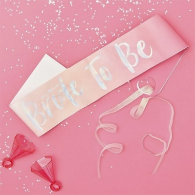 "Faixa ""Bride to Be"" Rosa"