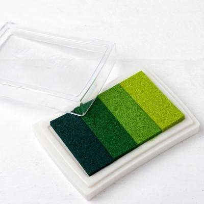 Almofada de tinta verde para impressão digital