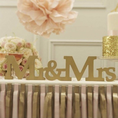 "Letras ""Mr&Mrs"" Ouro"