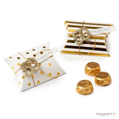2 Caixas douradas Bodas de Ouro