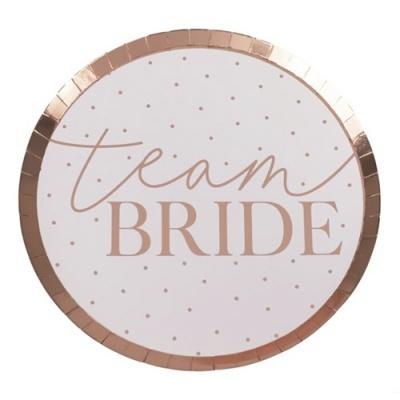 """8 Pratos """"Team Bride"""""""