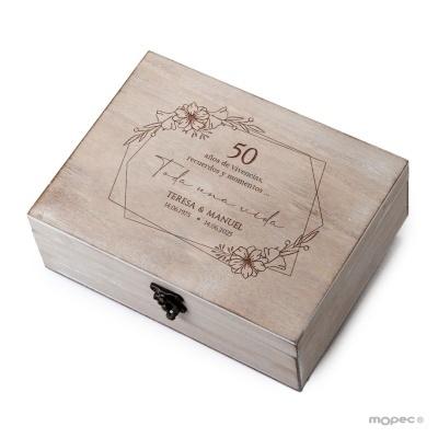 Caixa de Madeira personalizada 50 anos