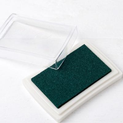 Almofada de tinta verde para carimbos