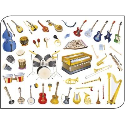 Pack 5 folhas Musical 50x70cm
