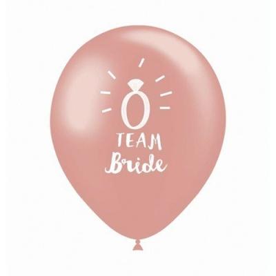 """Saco 10 Balões 32cm """"Team Bride"""""""