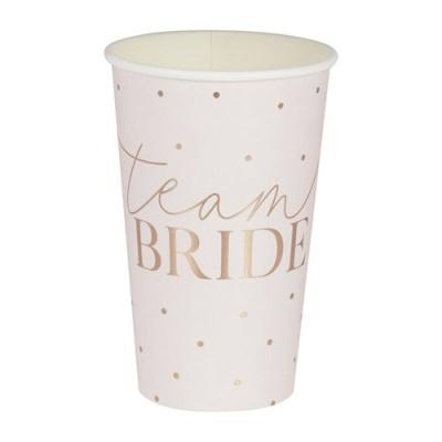 """8 Copos Foil """"Team Bride"""""""