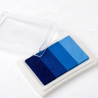 Almofada de tinta azul para impressão digital