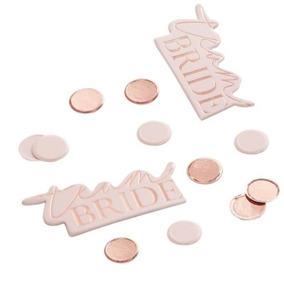 """Confettis """"Team Bride"""" Rose Gold"""