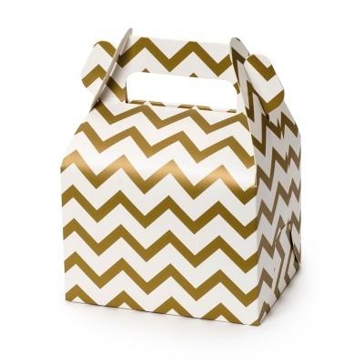 25 Caixas de papel em dourado ou preto, com alça