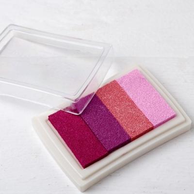 Almofada de tinta rosa para impressão digital