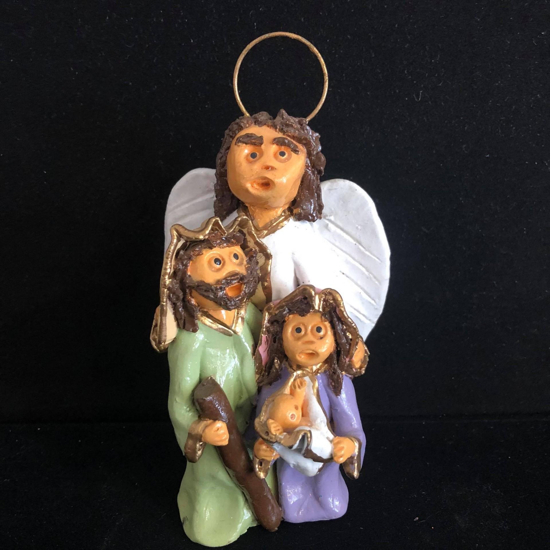 Presépio com anjo