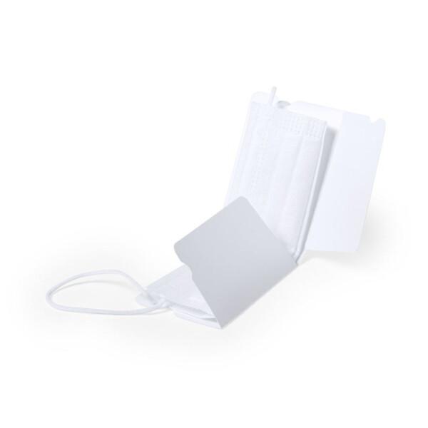 Porta máscaras de bolso - protecção de máscara em cartão bio branco