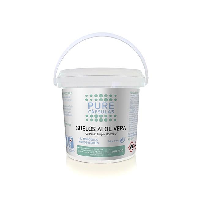 Cápsulas solúveis para lavagem de chão (50 Unidades) Aroma Aloé Vera