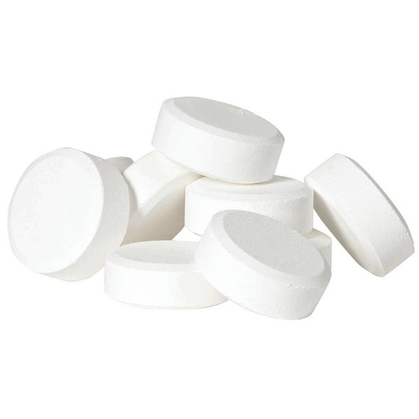 CHEMCLOR -  ~200 Pastilhas solúveis desinfectantes  (pisos e superfícies, utensílios de limpeza e de cozinha, alimentos vegetais) (1kg ~200 pastilhas)