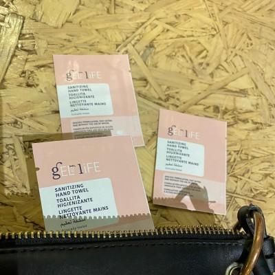 Toalhetes higienizantes em embalagem individual (pack de 50 unidades)