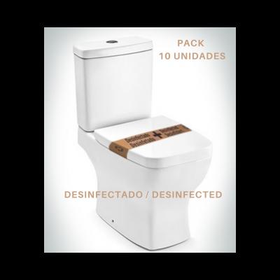 Selo de desinfecção W.C. ecológico -  100% papel reciclado (10 unidades)
