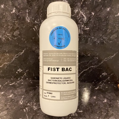 Fist Bac - Produto de lavagem de mãos germicida, bactericida, inodoro (garrafa 1L)