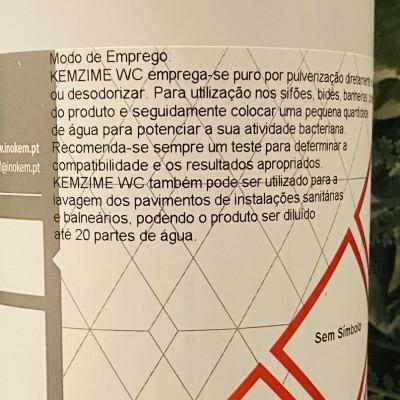 Kemzime WC (tratamento de WC e destruidor de odores, enzimático) 1L