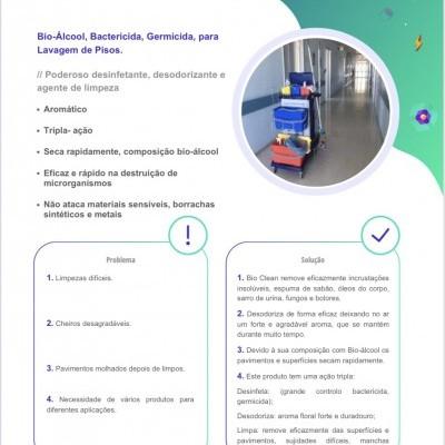 Bio Clean - Bio Álcool para Lavagem de Pisos Germicida e Bactericida (garrafa 1 L)