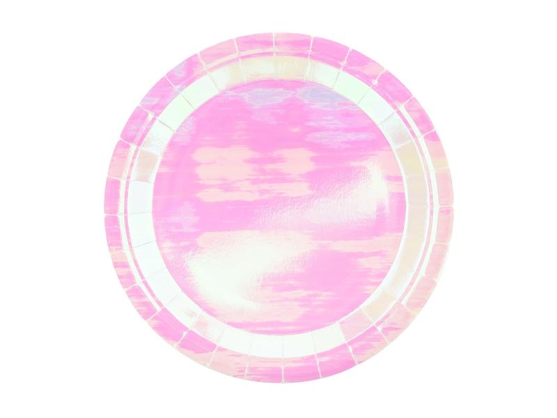 6 Pratos - iridescente 23cm