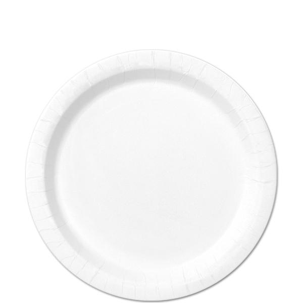 20 Pratos brancos 18cm