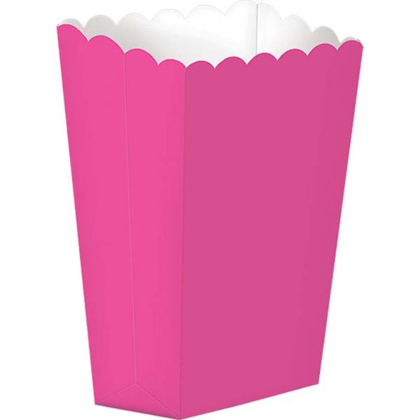 Caixas de pipocas rosa fushia