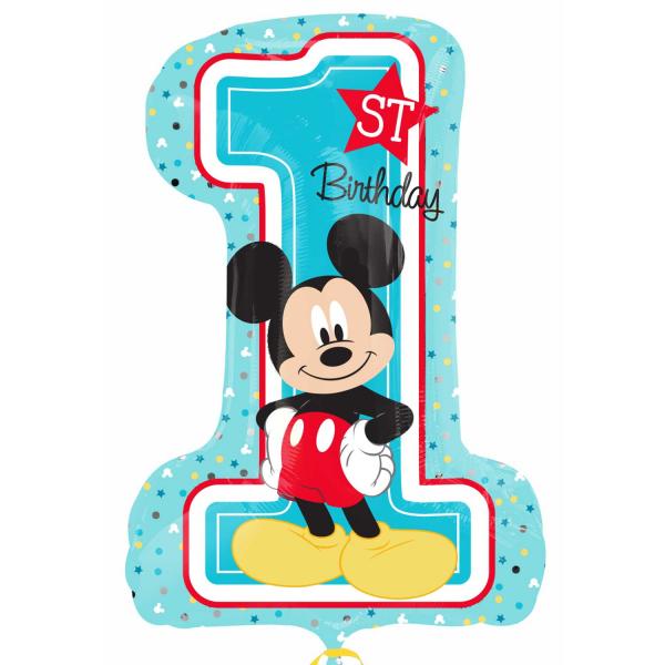 Balão foil Mickey 1 ANIVERSARIO