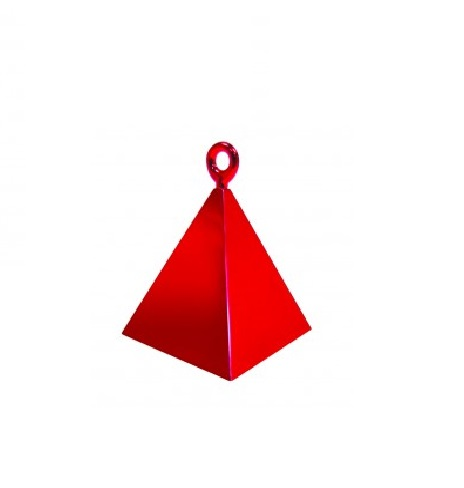 Peso pirâmide para balões vermelho