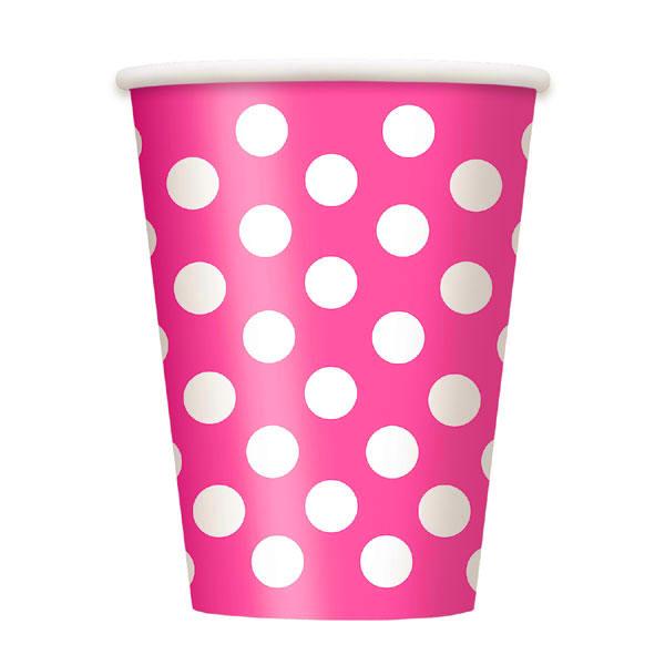 Copos bolas rosa fushia