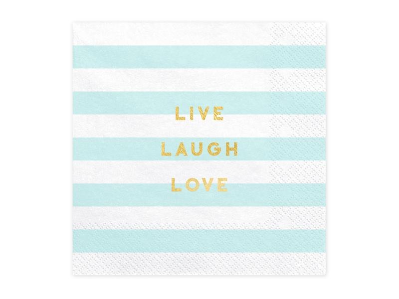 "20 Guardanapos ""Live Laught Love"""