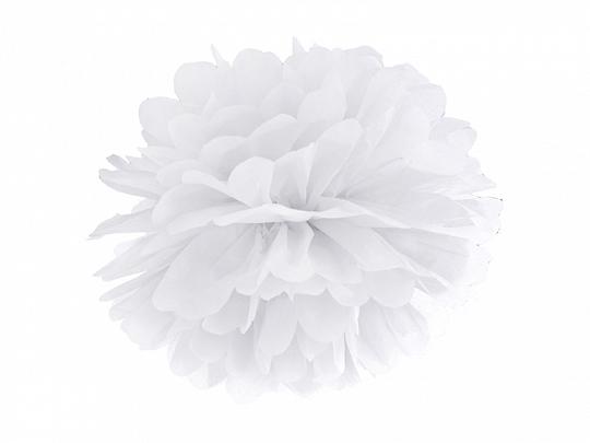 Pompom 40cm Branco