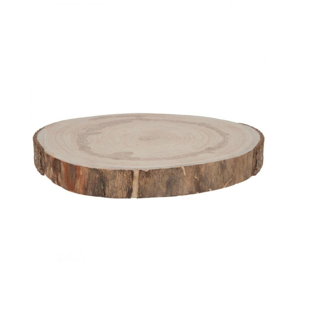 Rodela de madeira 30cm