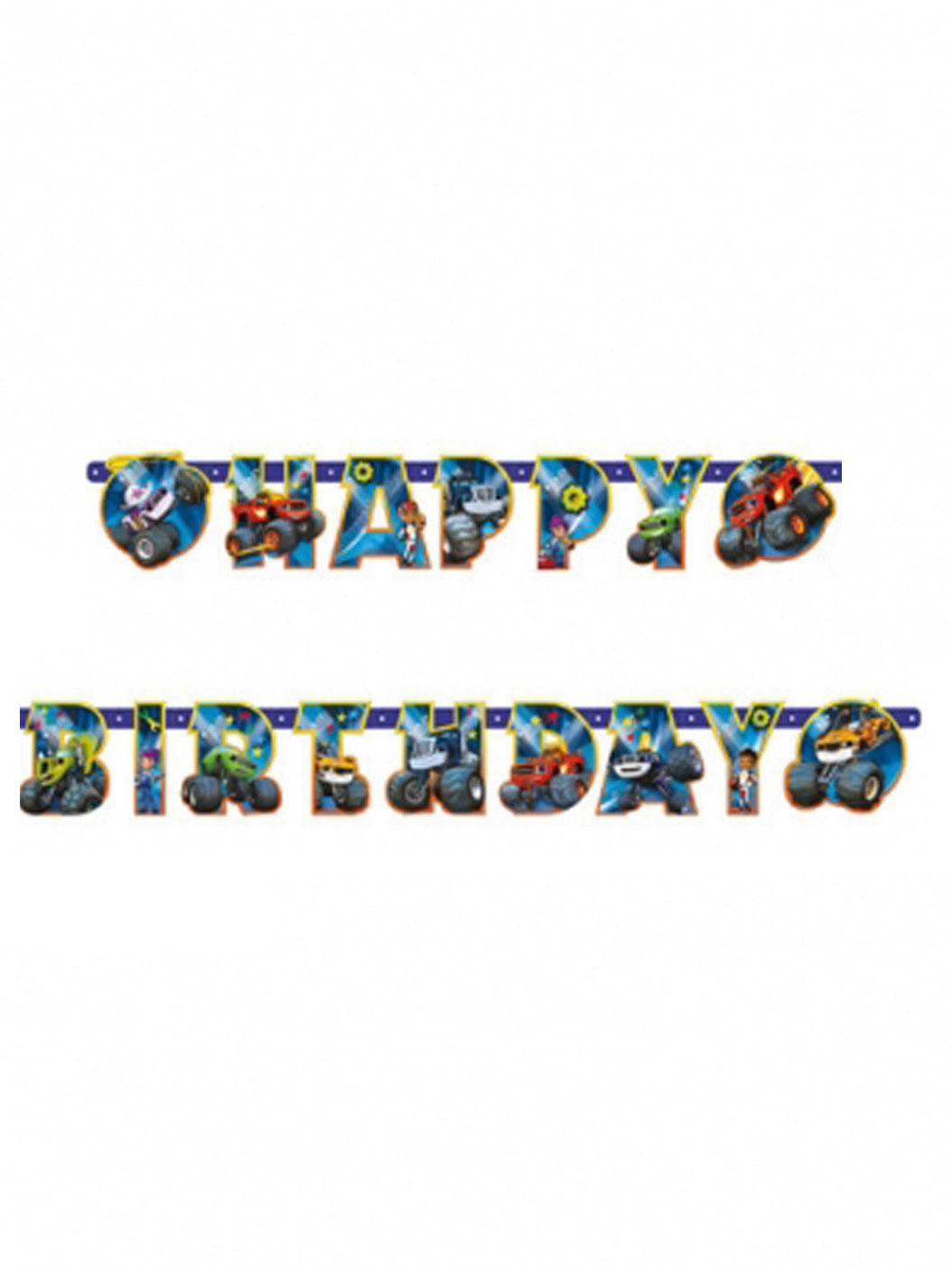 Bandeirinha recortada Happy birthday