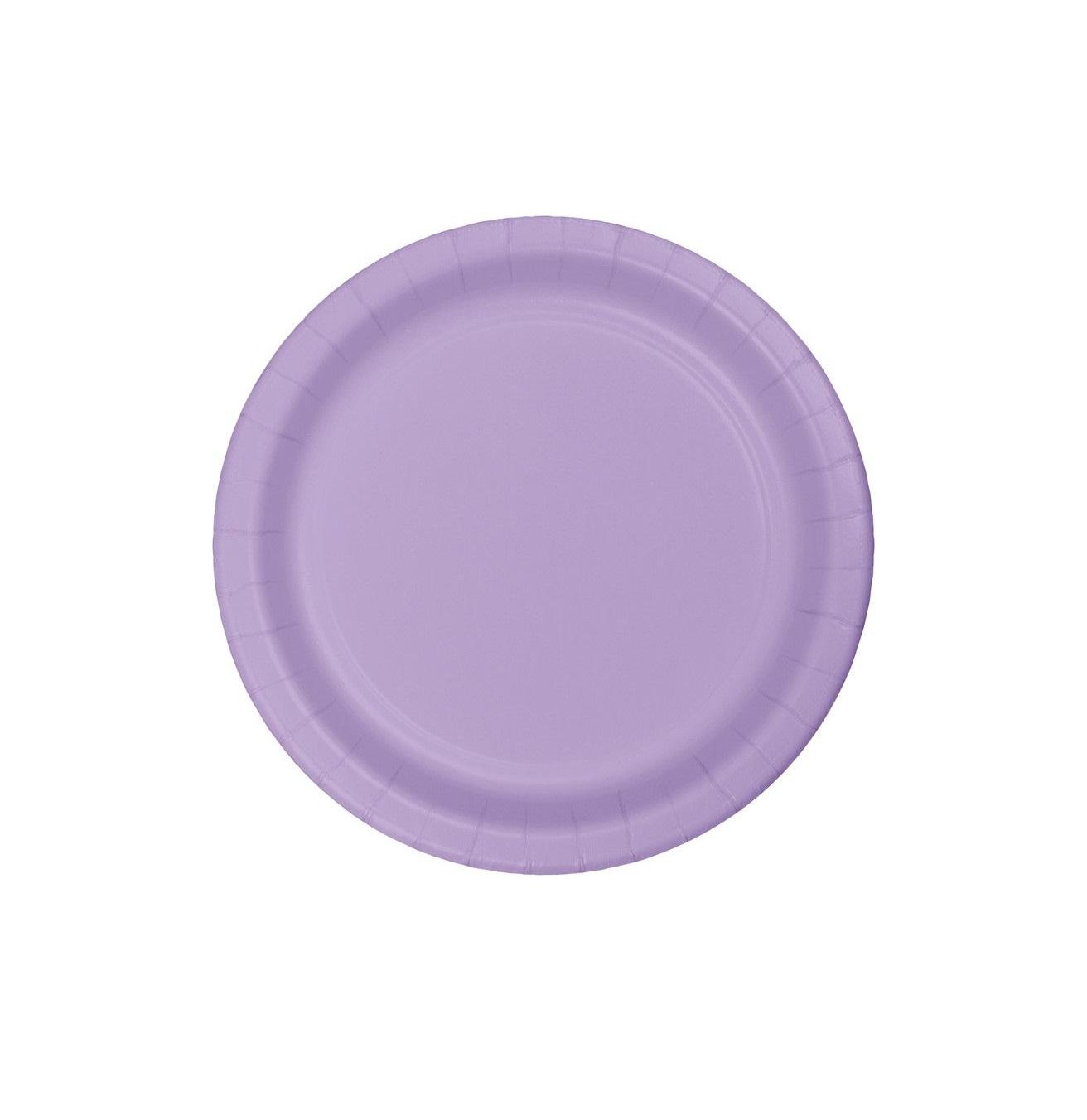 20 pratos lilás 18cm