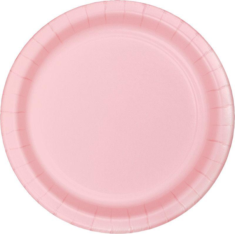 24 Pratos Rosa bebé