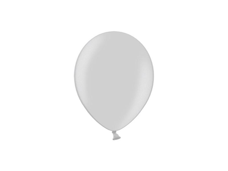 Mini Balão latex 12cm Prateado
