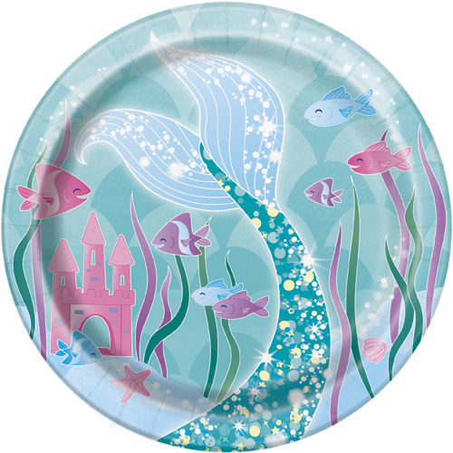 8 Pratos mermaid