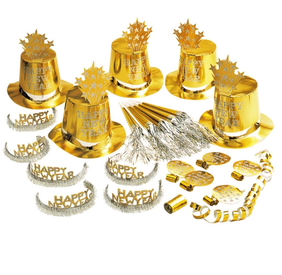 Kit passagem de ano para 10 pessoas ouro