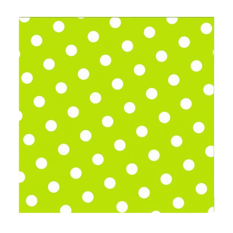 20 Guardanapos verde lima bolas