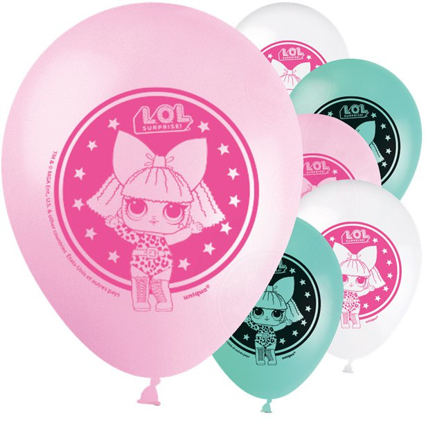 8 balões latex LOL Surprise