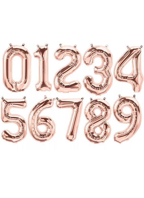 "Números 34"" rose gold"